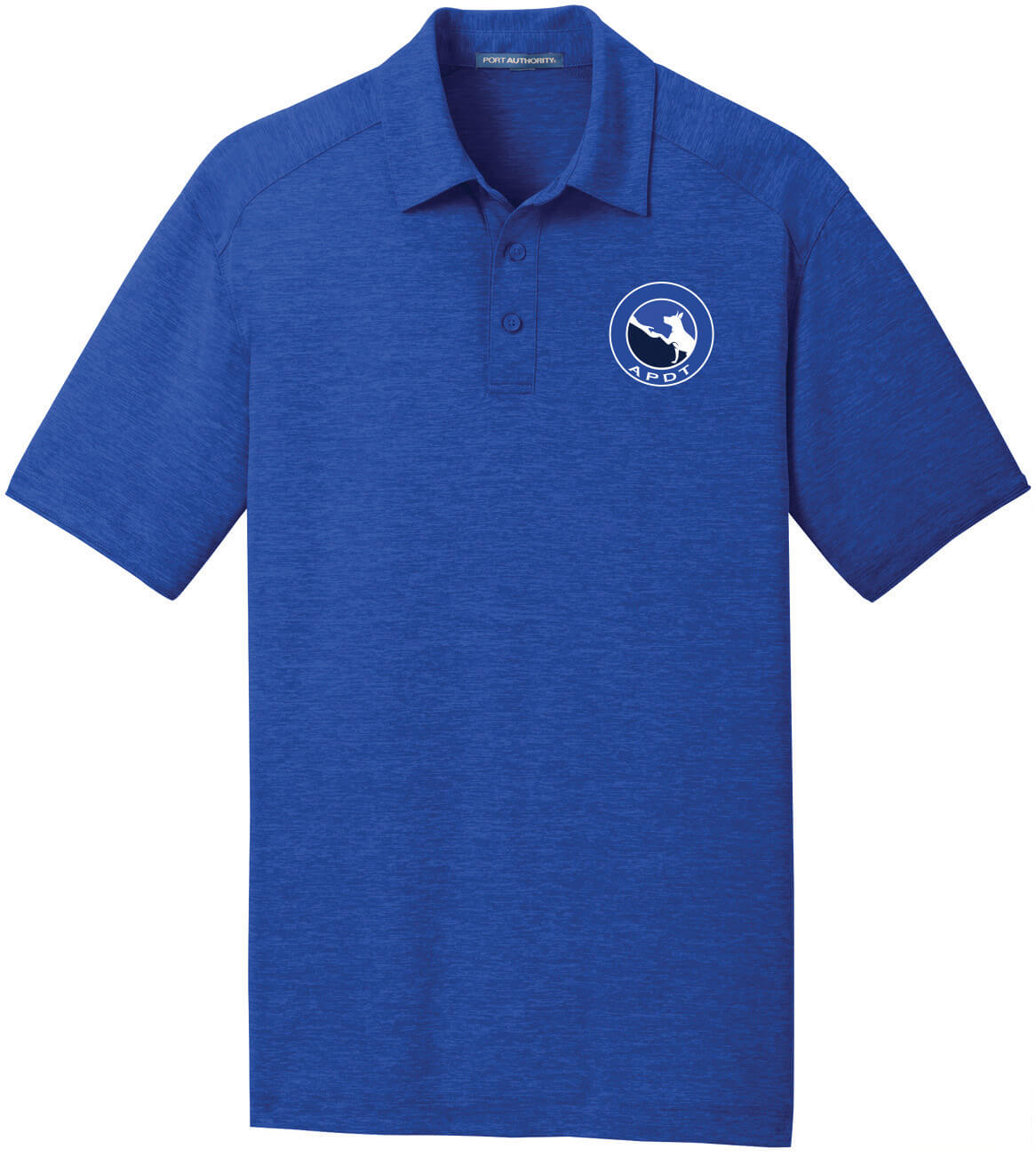 Men's Heather Performance Polo Large